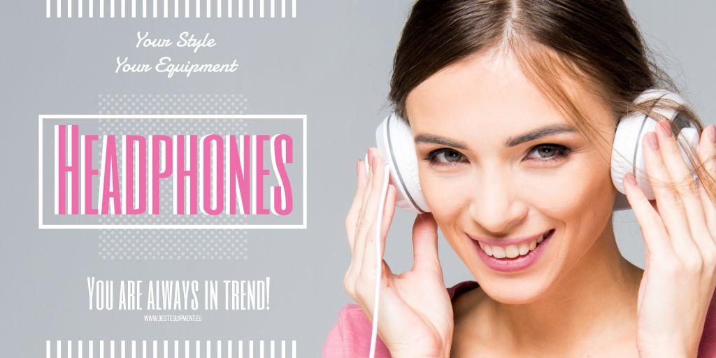 Headphones sale advertisement — Створити дизайн