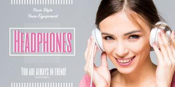 Headphones sale advertisement