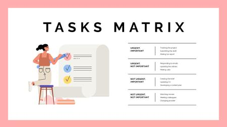 Plantilla de diseño de Tasks Matrix concept Mind Map