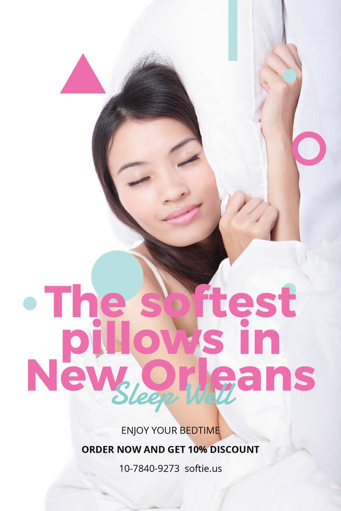 Designvorlage The softest pillows in New Orleans für Pinterest