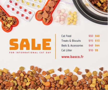 Pet Food and Supplements Cat Day Sale Facebook Modelo de Design
