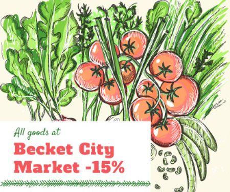 Ontwerpsjabloon van Large Rectangle van City market sale