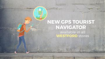 Navigation App Ad Man Using Map on Phone | Full Hd Video Template