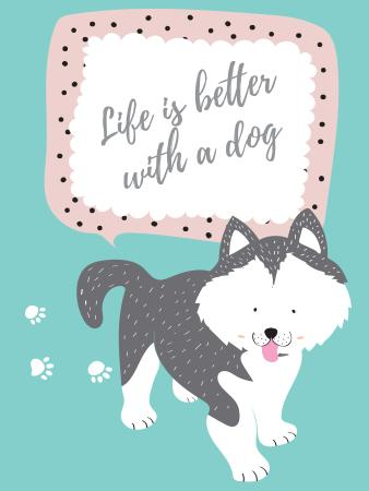 Pet Adoption with Cute Dog Poster US Design Template