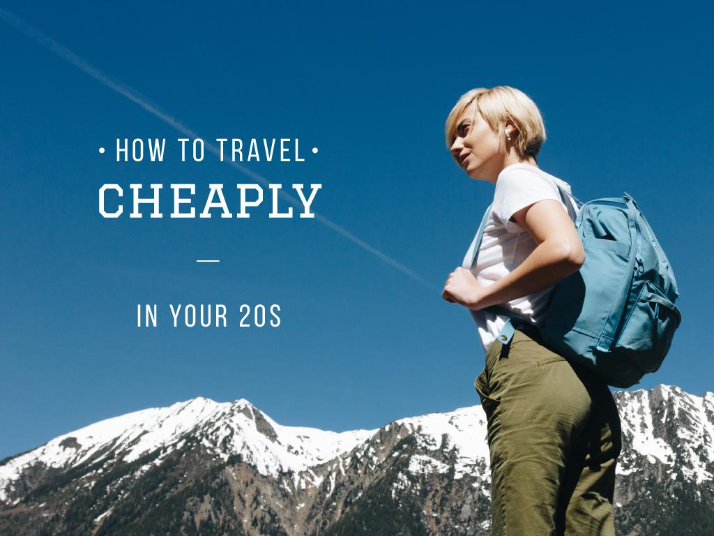 Cheaply tourism for young people — ein Design erstellen