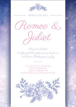 Ballet performance invitation