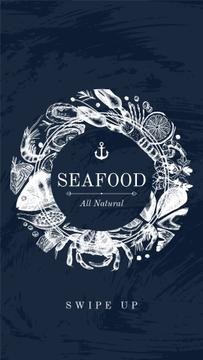 Seafood Offer with Fish Pattern