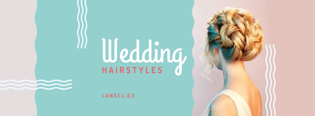 Wedding Hairstyles Offer with Bride with Braided Hair — Modelo de projeto