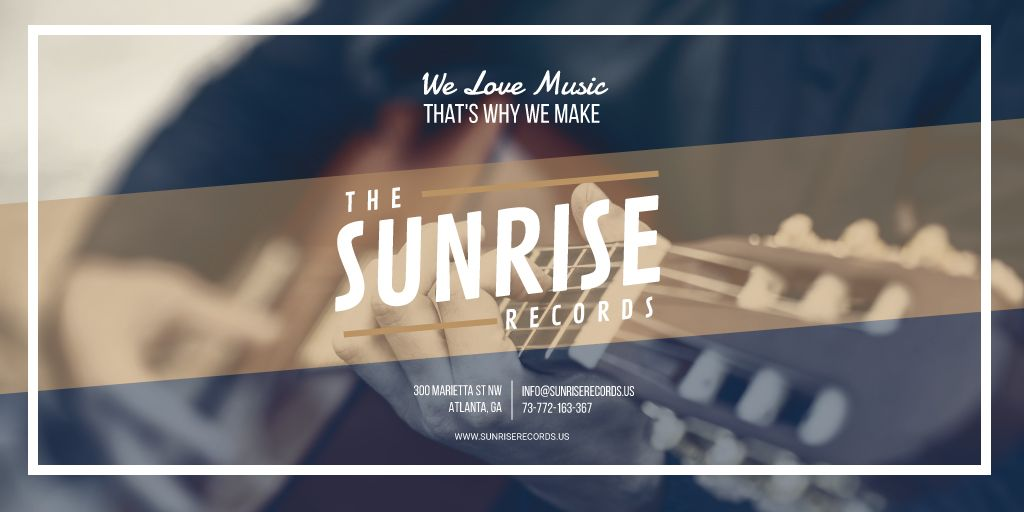Records Studio advertisement — Создать дизайн