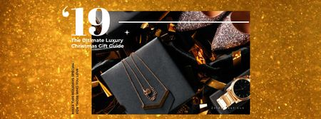 Plantilla de diseño de Christmas gift with Shiny shoes and accessories Facebook Video cover