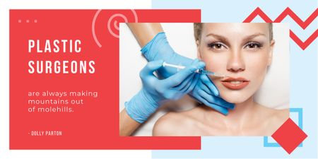 Plantilla de diseño de Woman getting lip injection Image
