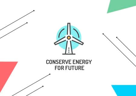Szablon projektu Concept of Conserve energy for future  Card