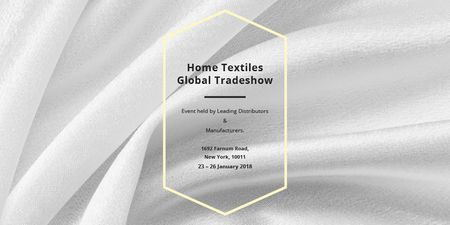 Home textiles global tradeshow Twitter – шаблон для дизайну
