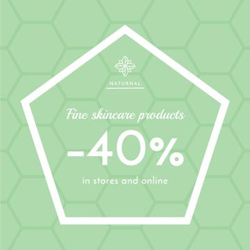 Skincare products sale advertisement