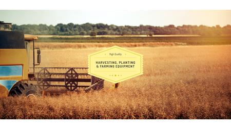 Plantilla de diseño de Harvester working in field Youtube
