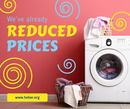 Plantilla de diseño de Appliances Offer Laundry by Washing Machine Facebook
