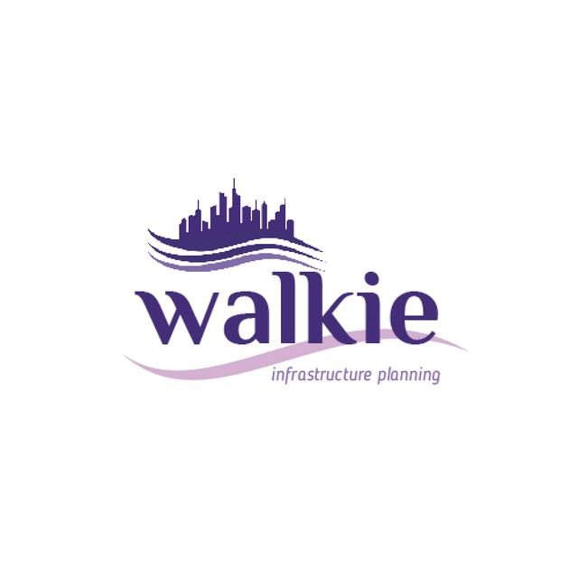 City Planning Company with Building Silhouette in Blue Animated Logo – шаблон для дизайну
