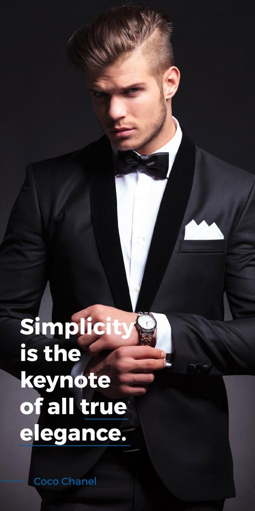 Elegance Quote Businessman Wearing Suit Graphic – шаблон для дизайну