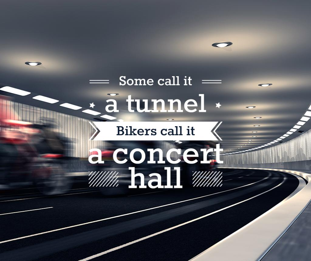 Bikers Riding in Road Tunnel — Modelo de projeto