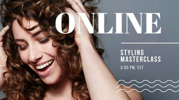 Online Masterclass with Woman with shiny Hair