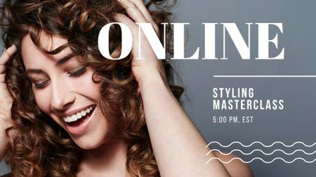 Plantilla de diseño de Online Masterclass with Woman with shiny Hair FB event cover