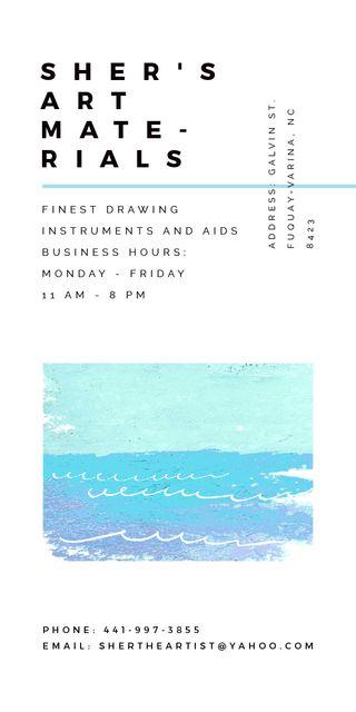 Template di design Art Material Store ad with Sea Landscape Graphic