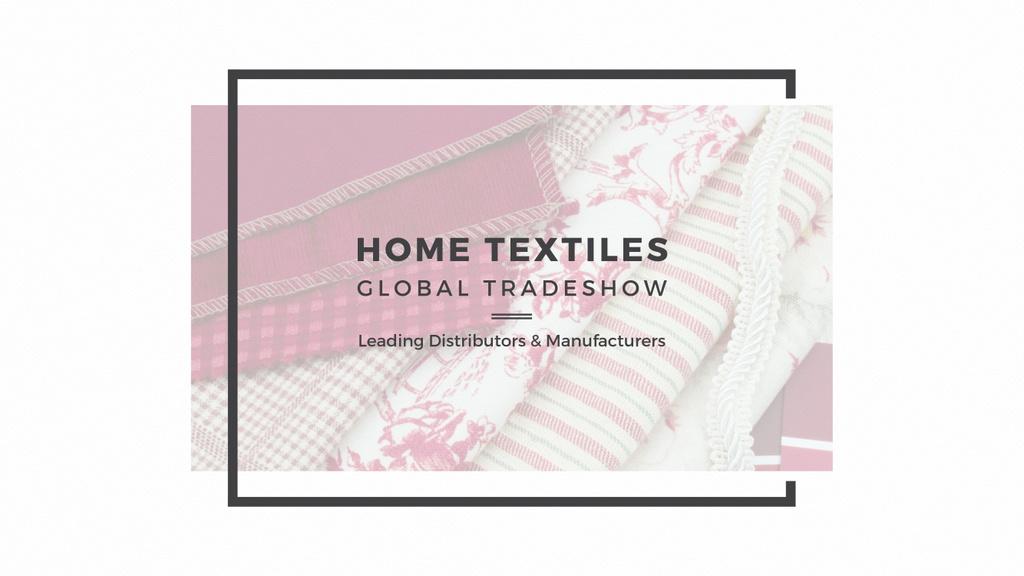 Home Textiles Event Announcement — Crea un design