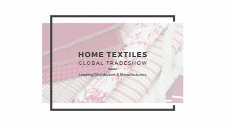 Template di design Home Textiles Event Announcement Youtube