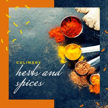 Aromatic spices assortment