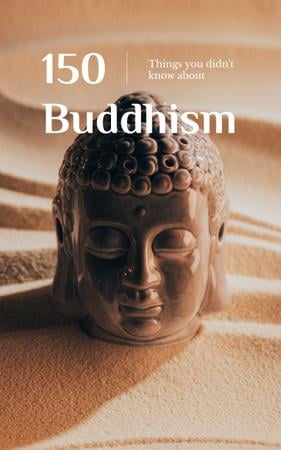 Religion Concept Buddha Sculpture Book Cover Modelo de Design