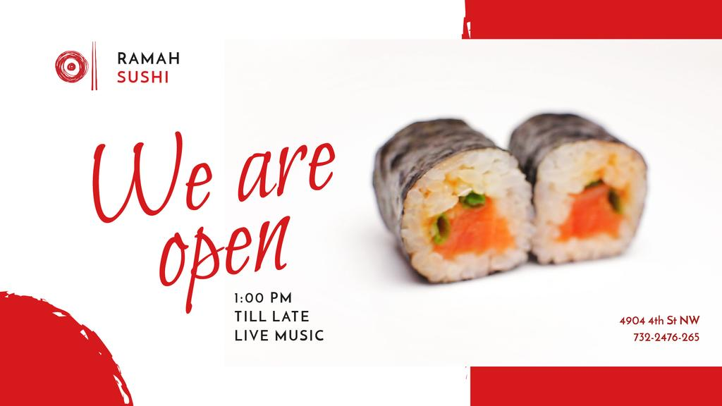 Sushi Menu Fresh Seafood Maki — Crea un design