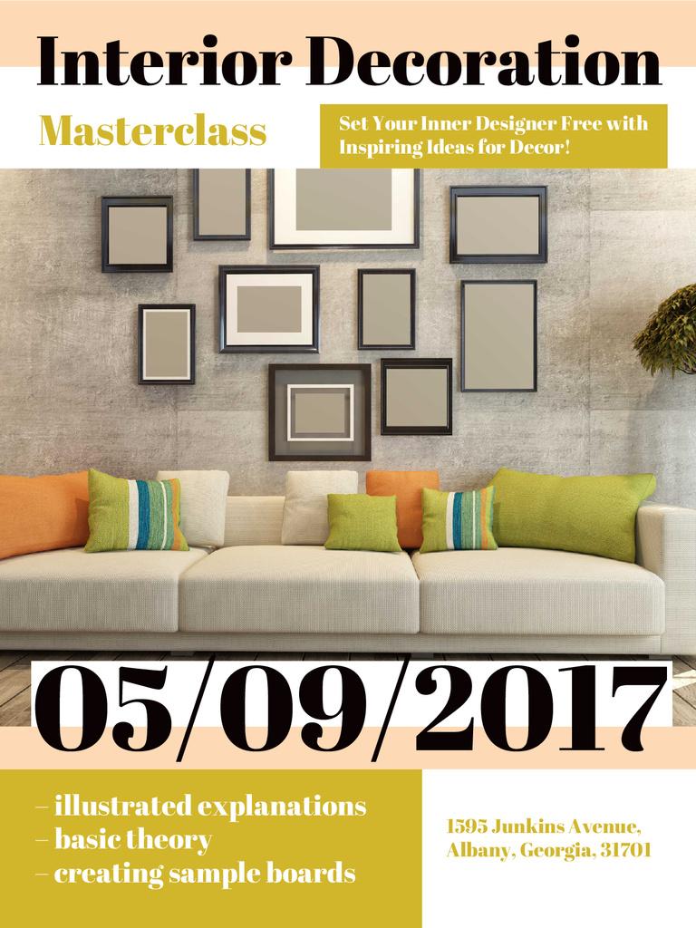 Interior decoration masterclass with Sofa in room — Maak een ontwerp