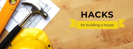 Plantilla de diseño de Hacks for building House Facebook cover