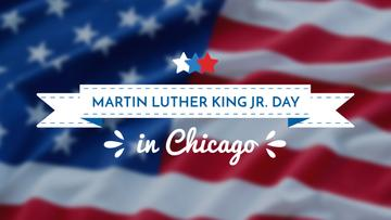 Martin Luther King Day Greeting with Flag | Youtube Channel Art