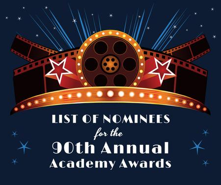 Template di design Academy Awards announcement with Film Facebook