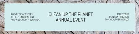 Clean up the Planet Annual event Twitter Modelo de Design