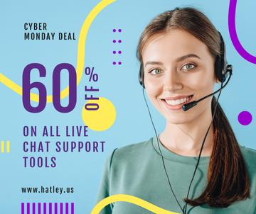 Cyber Monday Deal Support Worker in Headset