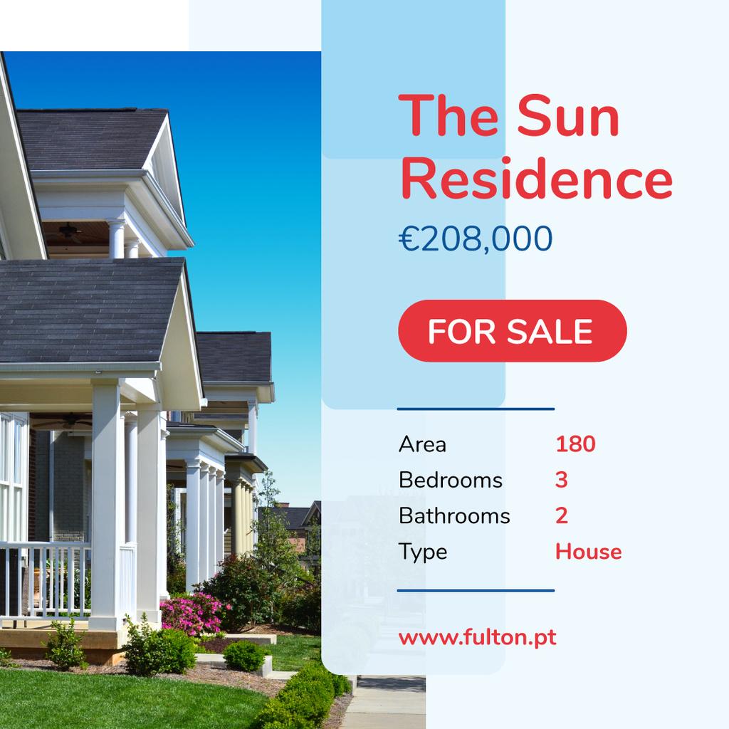 Real Estate Offer Residential Houses | Instagram Ad Template — Créer un visuel
