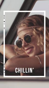 Stylish Girl chilling in car