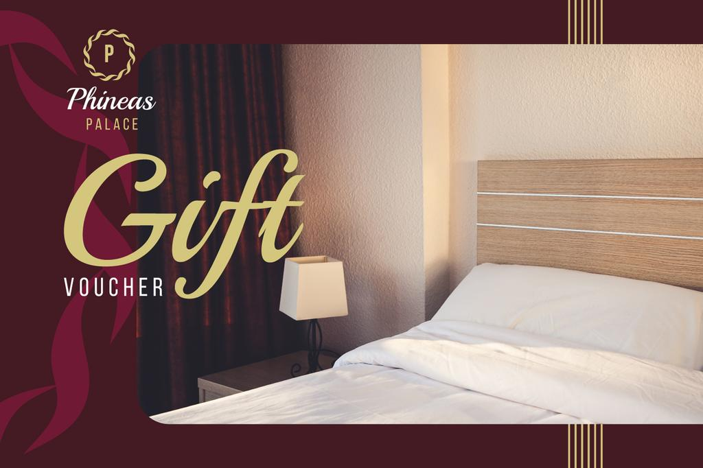 Hotel Offer Cozy Bedroom Interior | Gift Certificate Template — Створити дизайн
