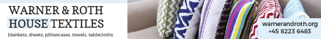 Home Textiles Ad Pillows on Sofa —デザインを作成する