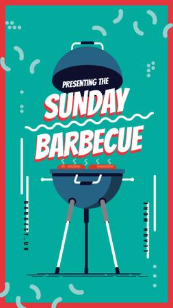 Plantilla de diseño de Cooking on bbq grill Instagram Story