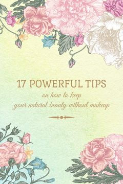 Natural beauty tips poster