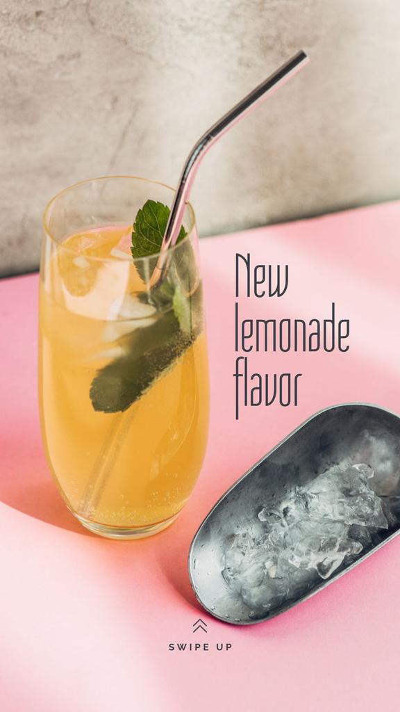 Sweet Lemonade with mint Instagram Story Modelo de Design