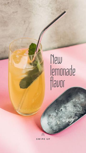 Sweet Lemonade with mint Instagram Story Design Template