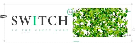 Plantilla de diseño de Switch to the green mode Email header