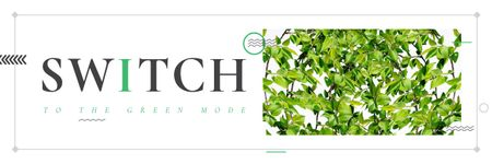 Switch to the green mode Email headerデザインテンプレート