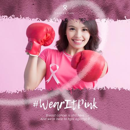 Plantilla de diseño de Woman in Boxing gloves Animated Post