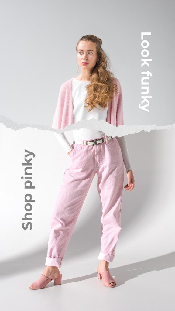Pretty Woman in Funny Outfit — Modelo de projeto