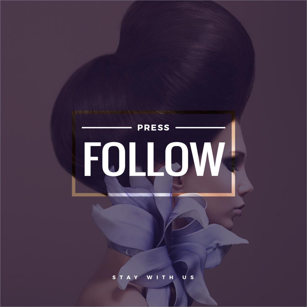 press follow poster for beauty blog — Create a Design